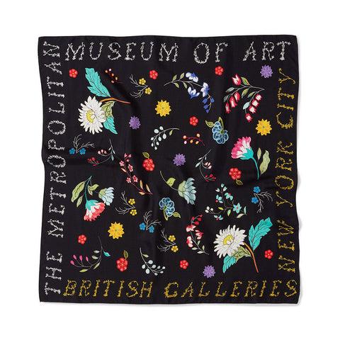 British Floral Square Scarf