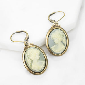 Vintage Cameo Earrings
