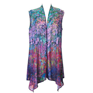 Garden Symphony Sheer Long Vest