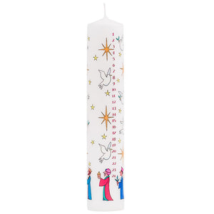 3 Wise Men Advent Pillar Candle