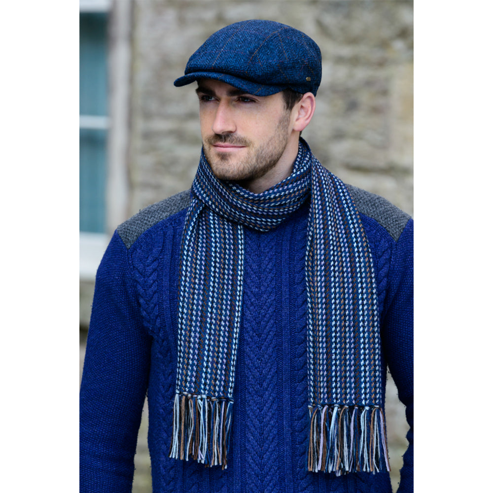 Alpaca Scarf: Blue and Brown