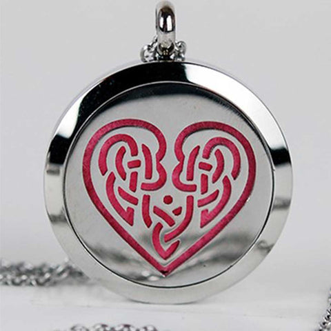 Aromatherapy Locket and Necklace: Celtic Heart