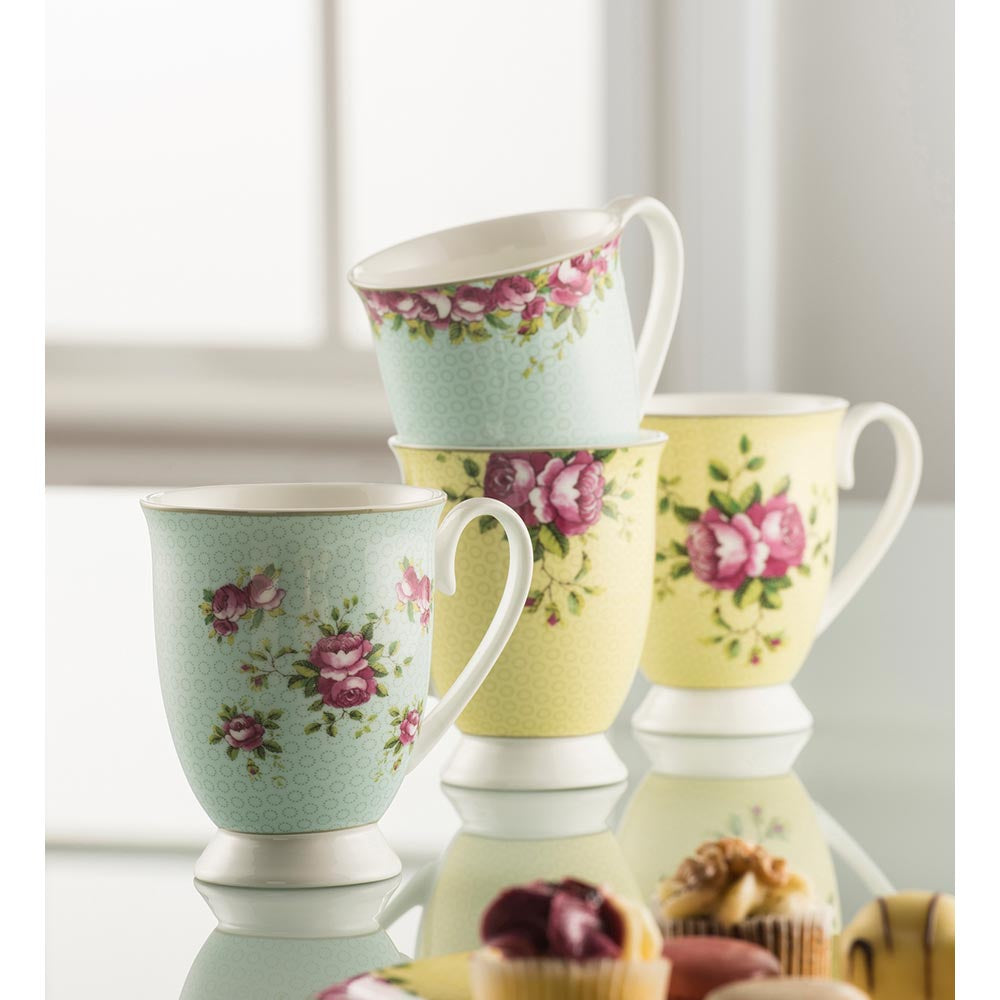 Aynsley Archive Rose Mug Set