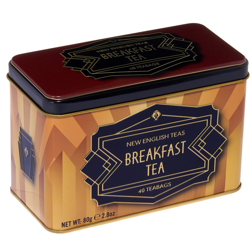 Breakfast Tea and Art Deco Tin