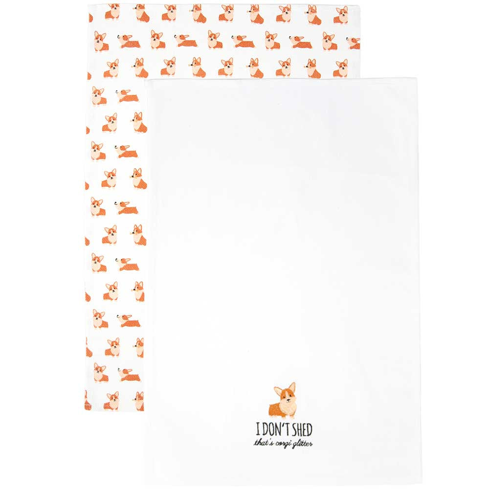 Corgi Tea Towel Set