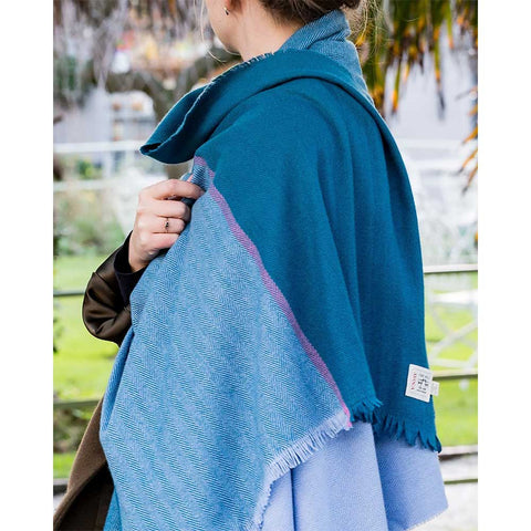 County Wicklow Shawl: Teal Blue