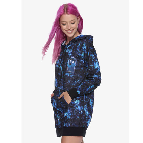 Doctor Who: Her Universe Galaxy TARDIS Hoodie Dress
