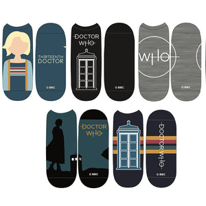Doctor Who: Ladies Thirteenth Doctor Low Cut Socks: 5 Pack