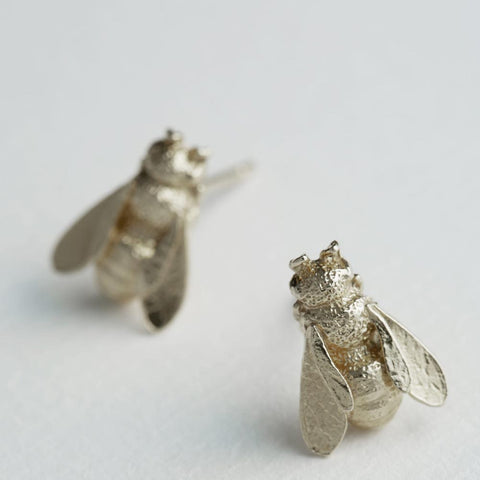 Honeybee Stud Earrings : Silver