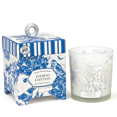 Indigo Cotton Soy Wax Candle