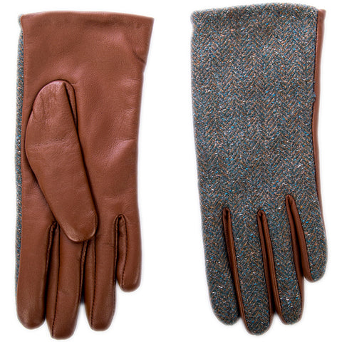 Irish Tweed and Leather Gloves