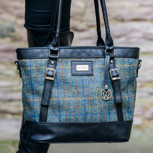 Killarney Tweed and Leather Handbag