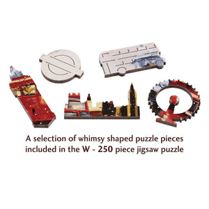 London in Snow Wooden Jigsaw Puzzle
