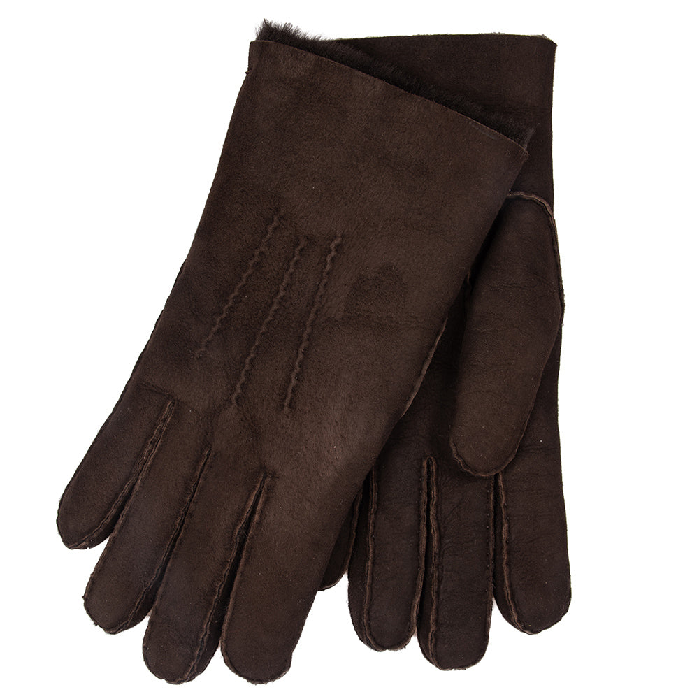 Men's Shearling Gloves: Dark Brown