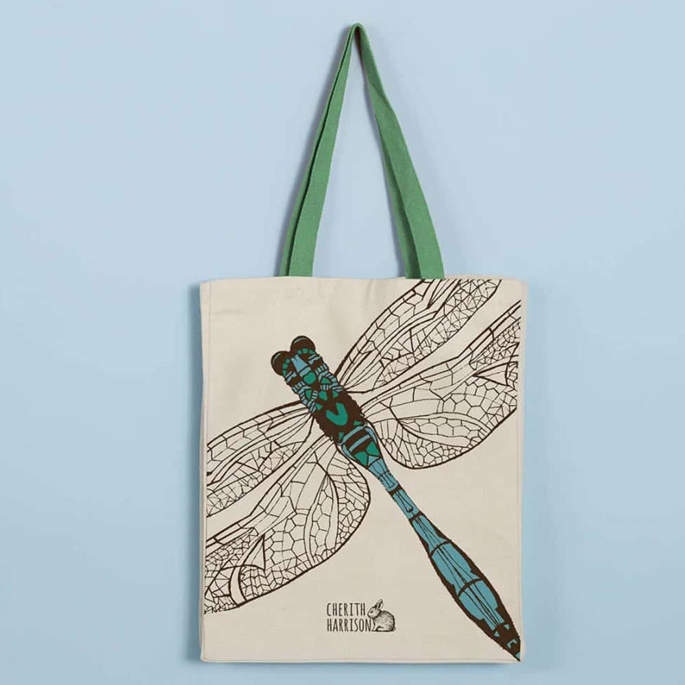Scottish Dragonfly Tote Bag