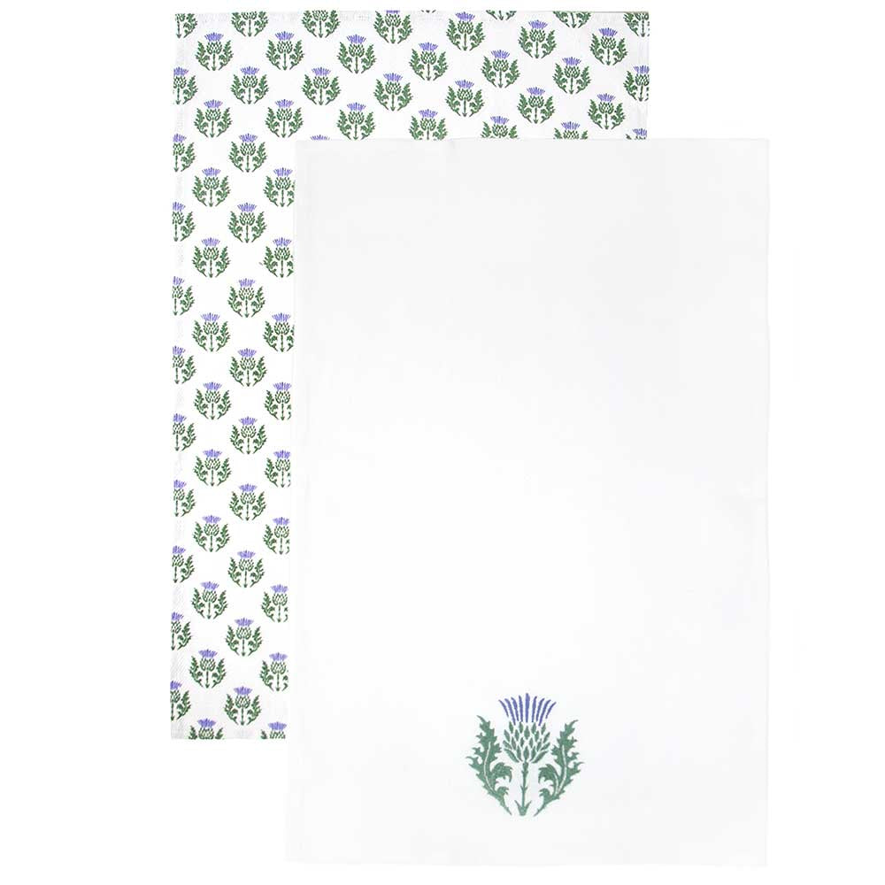 Scottish Thistle Tea Towel Set