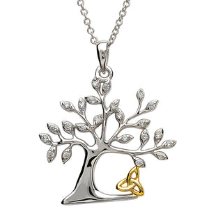 Silver Tree of Life Pendant and Necklace