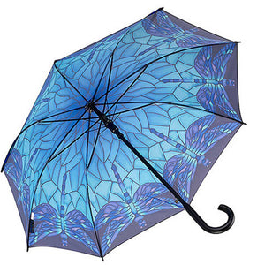 Stained Glass Dragonfly Umbrella: Stick