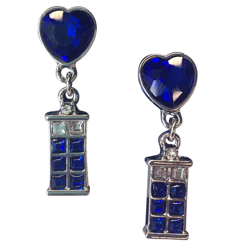 Doctor Who: TARDIS Heart Earrings