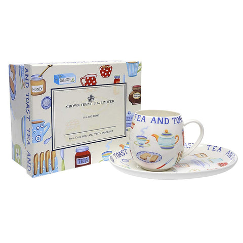 Tea-and-Toast Mug and Tray Set