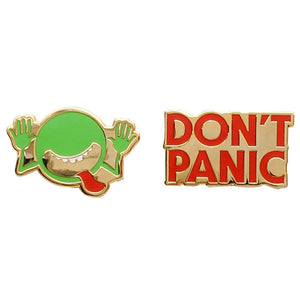 The Hitchhiker's Guide to the Galaxy Enamel Pin Set