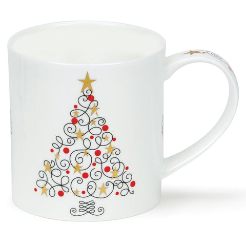 Dunoon Stars and Swirls Festive Tree Mug
