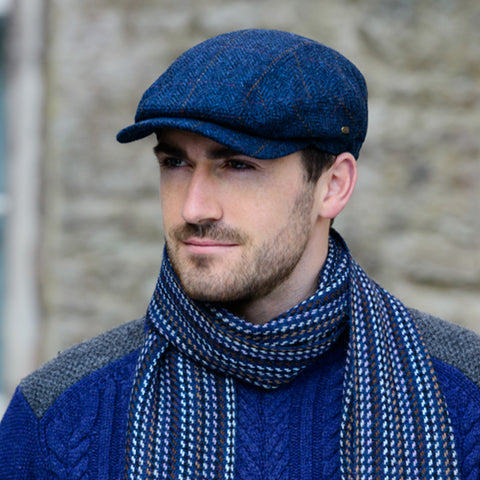 Tweed Kerry Cap: Blue