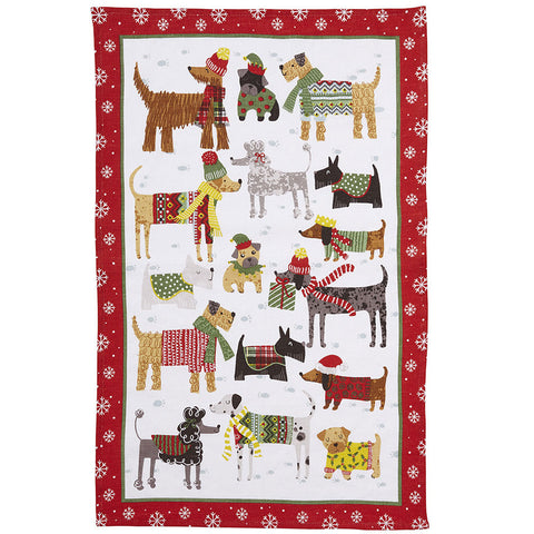 Ulster Weavers Snow Dogs Linen Tea Towel