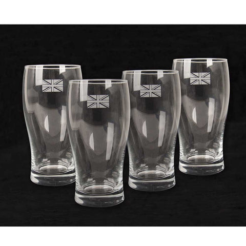 Union Jack Pint Glasses