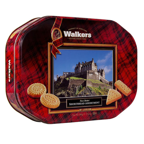 Walkers Shortbread and Edinburgh Castle Tin