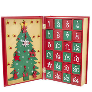 Wooden Advent calendar Book