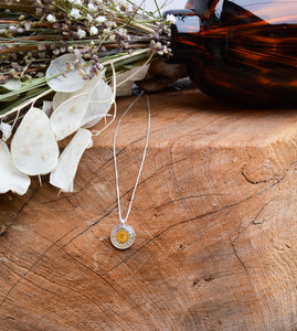 Fleabane Daisy Necklace (small)