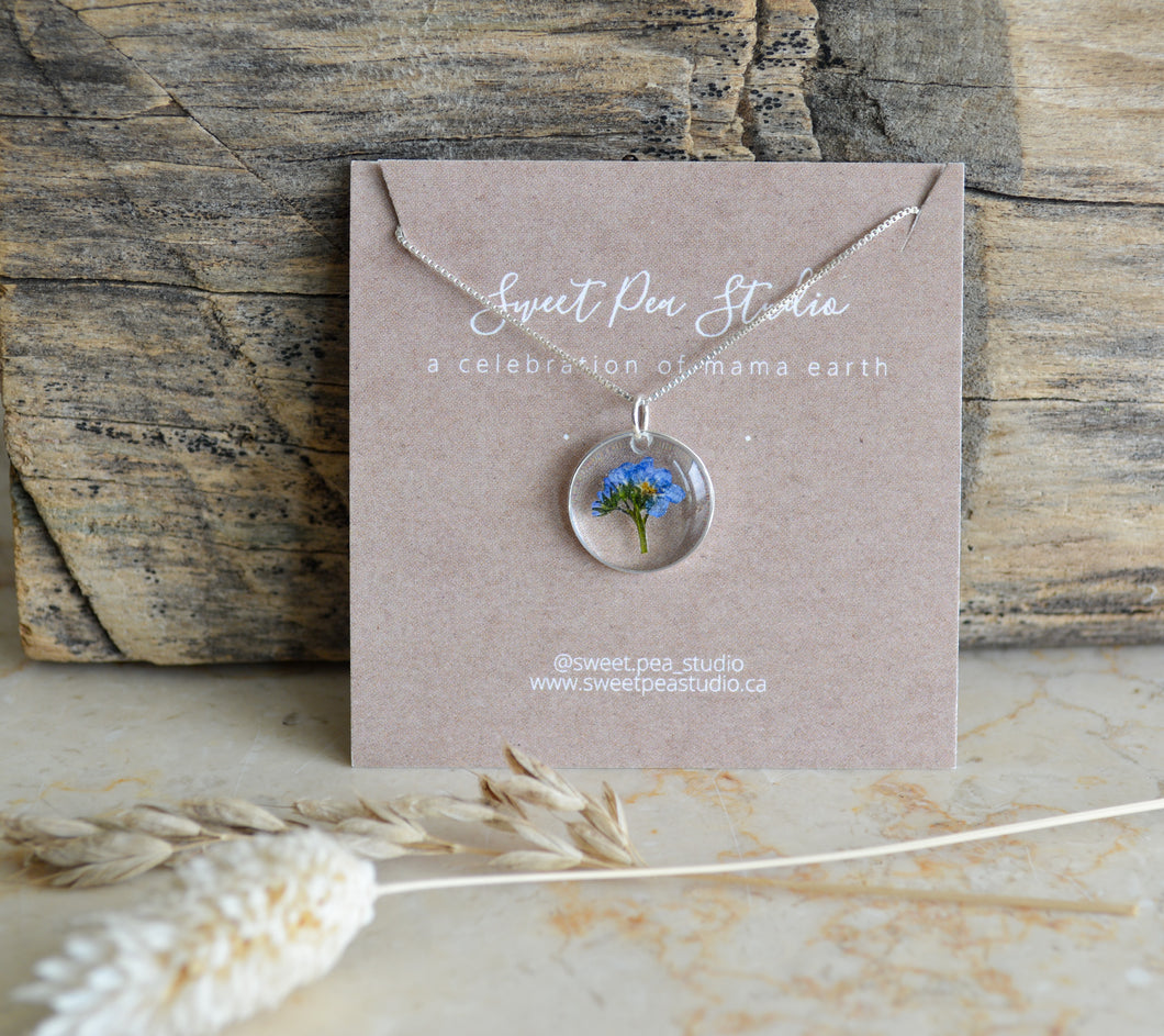 Forget Me Not Bouquet Necklace (Small)