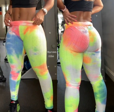HONEYCOMB LEGGINGS - Tie Dye 13 Colorways - GymDeity