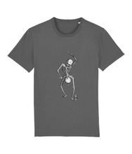 Load image into Gallery viewer, Dance with Death (Grey Skeleton) Unisex T-Shirt