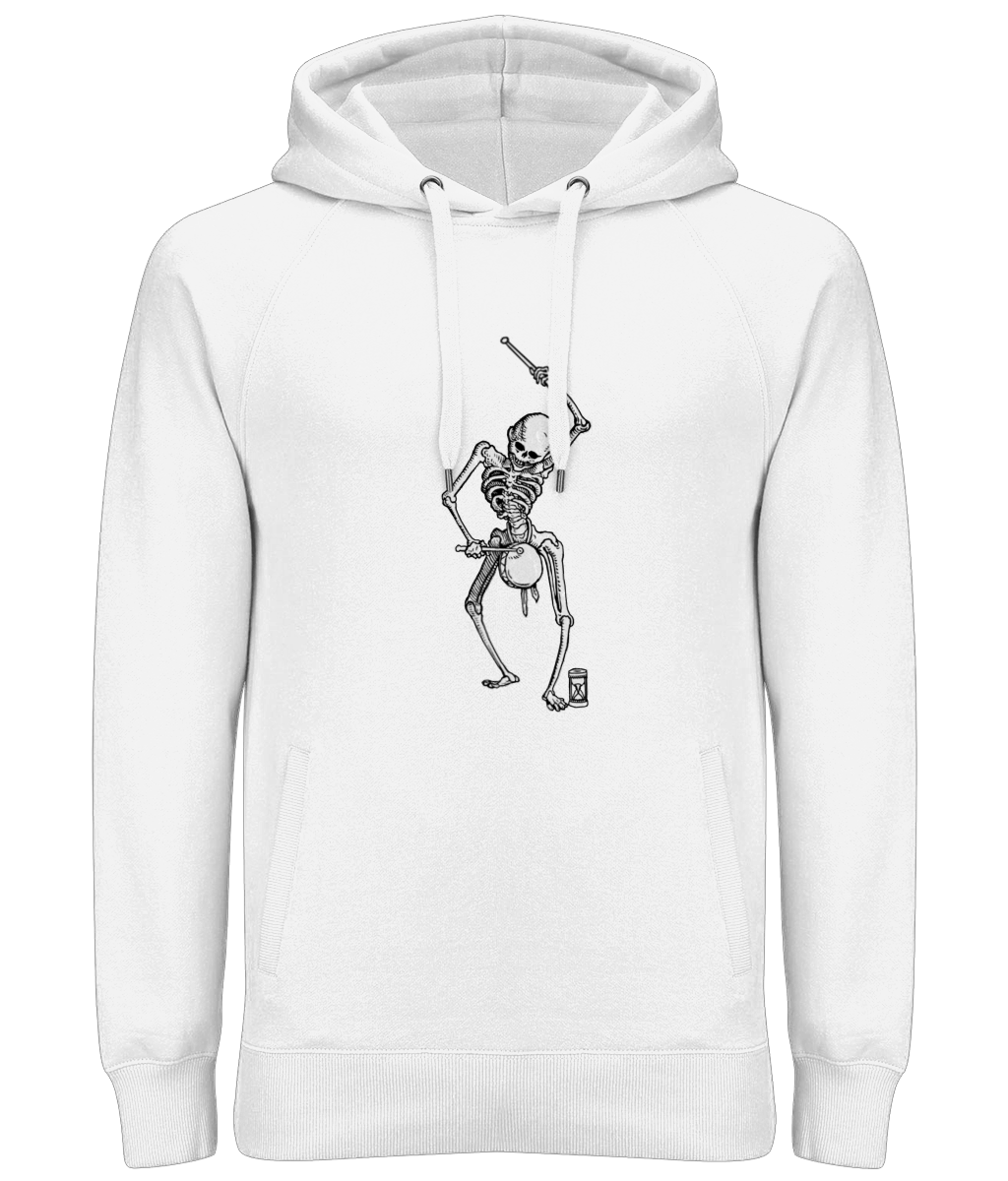 Dance with Death (Grey Skeleton) Ladies / Unisex Hoodie