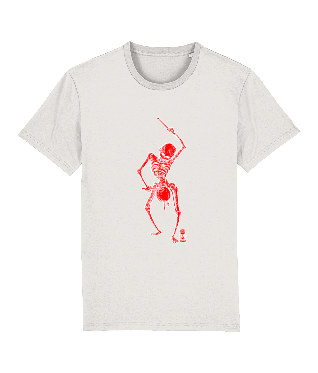 Dance with Death (Red Skeleton) Unisex T-Shirt