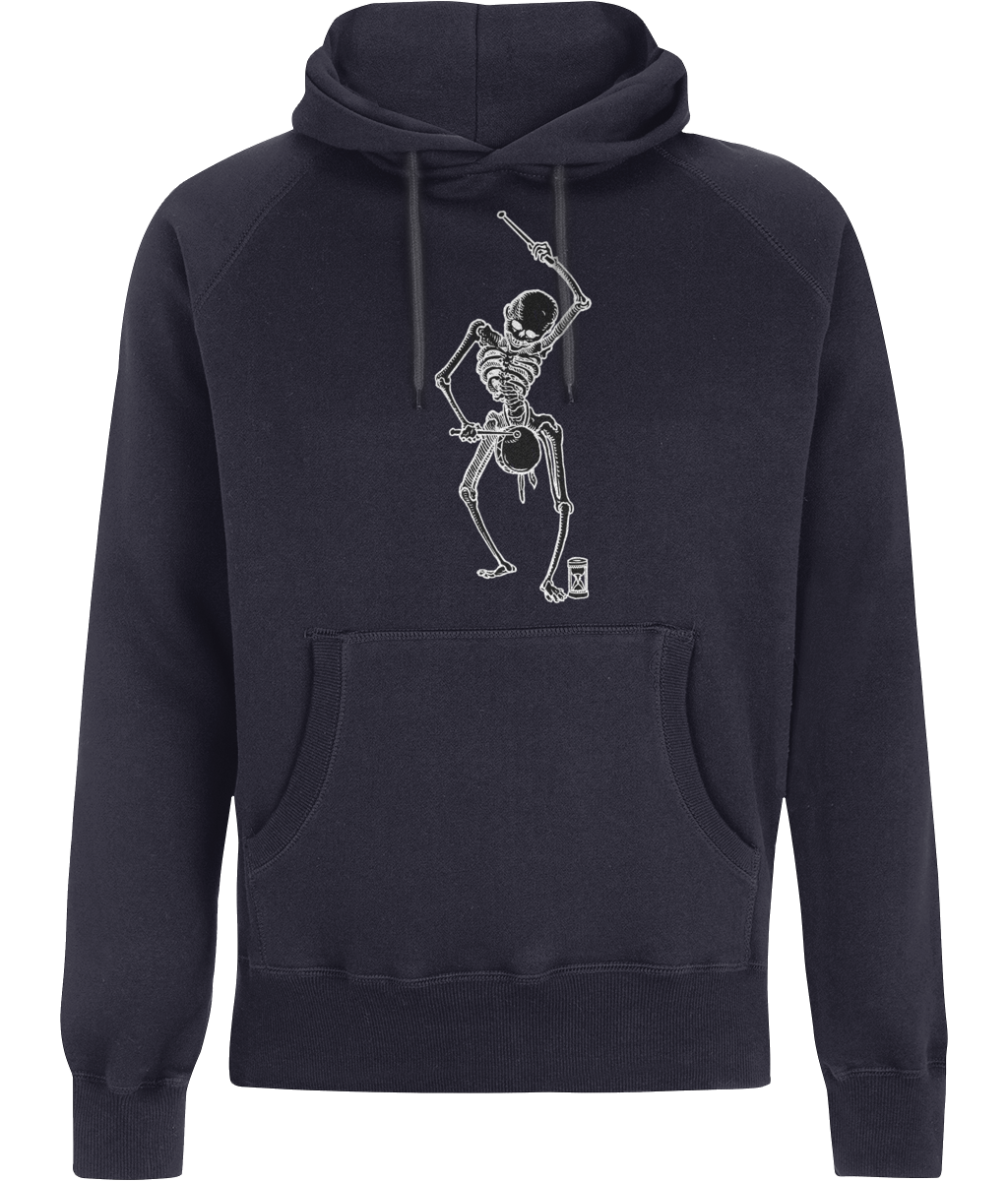 Dance with Death (Black Detail) Mens Hoodie
