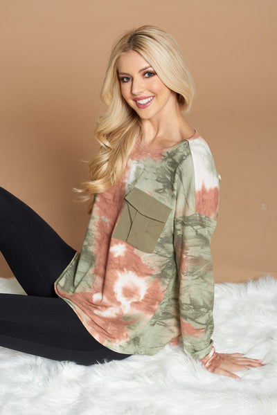 Tie Dye Top with Pocket