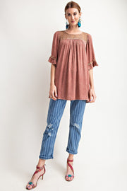 Flowy Shapeless Silhouette Loose Fit Tunic
