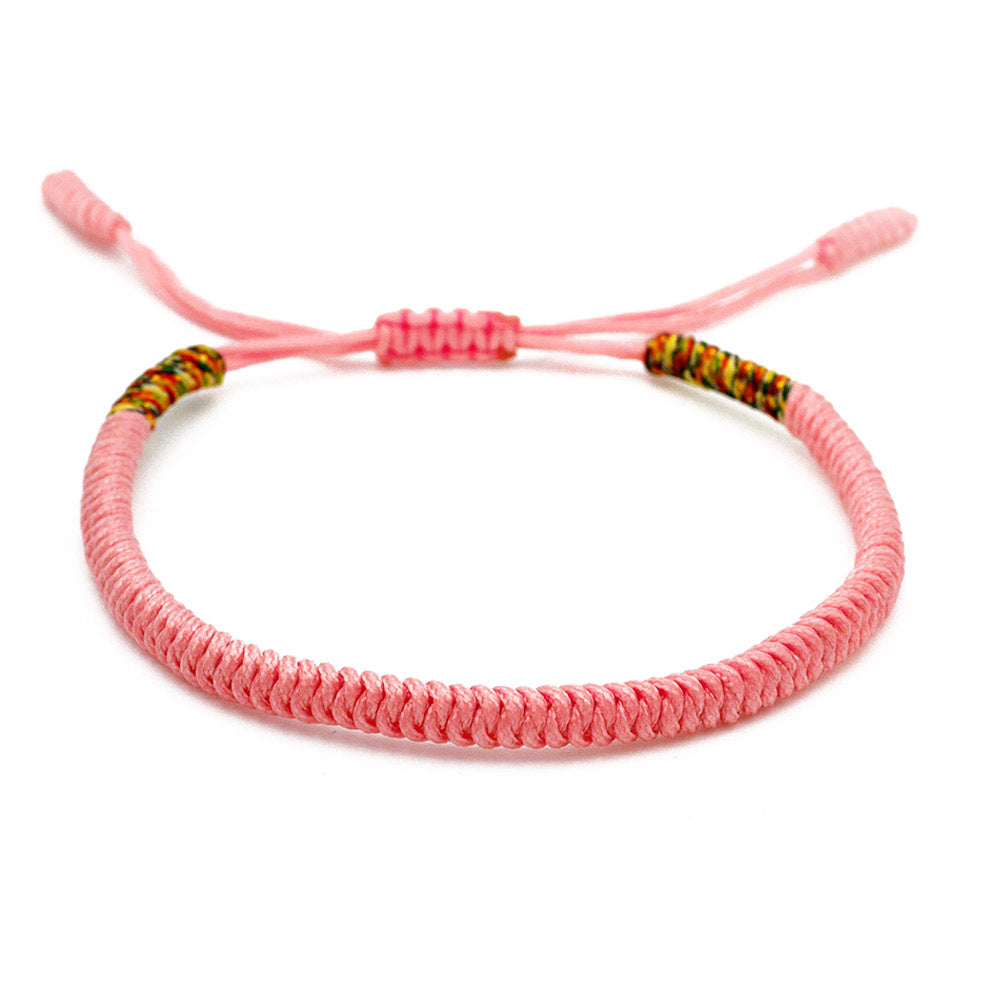 Tibetisches Armband in rosa