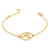 Wave Welle Armband Gold
