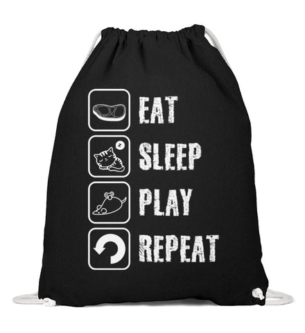 Baumwoll Gymsac - Eat Sleep Play Repeat  - Baumwoll Gymsac
