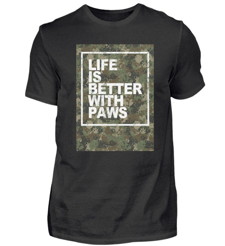 Herren Premium Shirt - Life Is Better With Paws  - Herren Premiumshirt