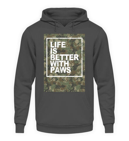 Unisex Hoodie - Life Is Better With Paws  - Unisex Kapuzenpullover Hoodie