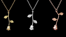 Load image into Gallery viewer, Pink Roses Necklaces