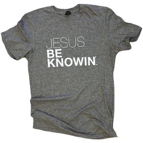 Jesus Be Knowin' | Heather Grey + White Tee