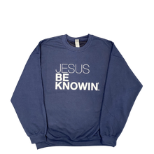 Load image into Gallery viewer, Jesus Be Knowin' | Navy Blue Pink or White Sweatshirt