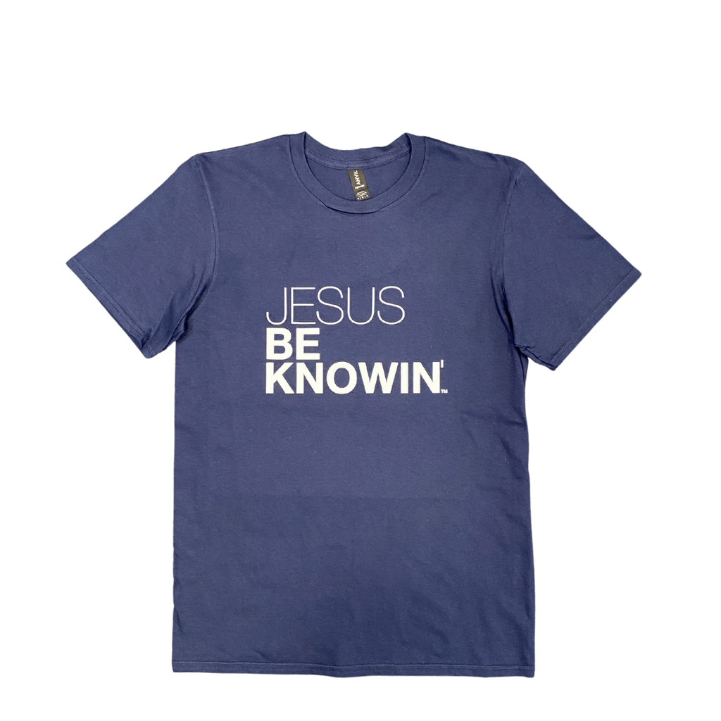 Jesus Be Knowin | Navy Blue White or Pink Tee
