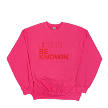 Load image into Gallery viewer, Jesus Be Knowin' | Bright Pink + Red/ White/ or Black Sweatshirt